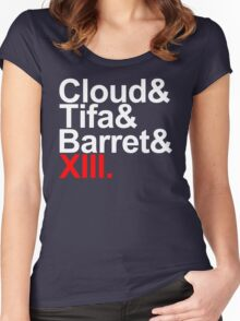 cloud&tifa&barret&xiii Women's Fitted Scoop T-Shirt