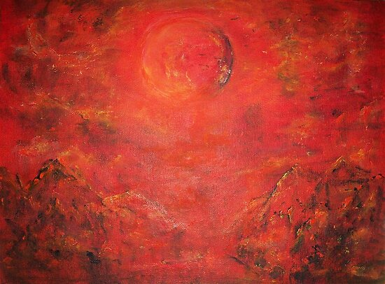 RED MOON RISING  by Mary Sedici