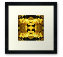 Yellow Mumz - In the Mirror Framed Print