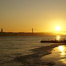 Sunset 25th April Bridge by Aase