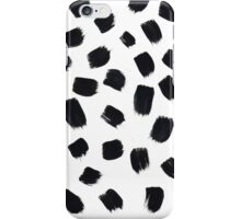 Hand Painted Brush Polka Dot Texture iPhone Case/Skin