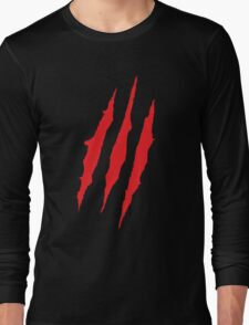 Wolverine Claw Marks Long Sleeve T-Shirt