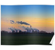 Drax power station at dusk Poster