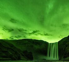 When Skógafoss Turned Green by Kristin Repsher