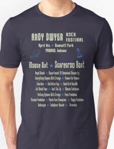 Andy Dwyer Rock Festival Unisex T-Shirt