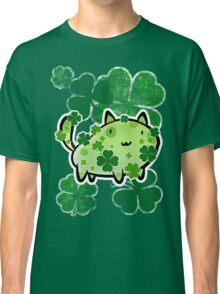 Green Clover Cat Classic T-Shirt