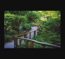 Stairs - Japanese Garden - Butchart Garden Kids Tee