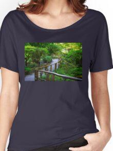 Stairs - Japanese Garden - Butchart Garden Women's Relaxed Fit T-Shirt