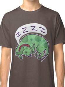 Sleepy Green Puppy T-shirt Classic T-Shirt