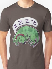 Sleepy Green Puppy T-shirt T-Shirt