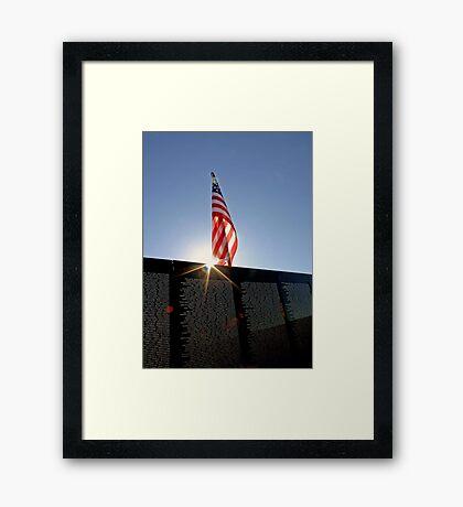 Remembering Our Heros Framed Print