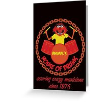 House of Drums Greeting Card