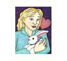 Gift of the White Rabbit Art Print
