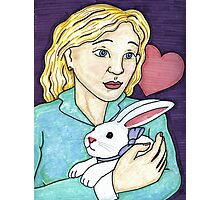 Gift of the White Rabbit Photographic Print