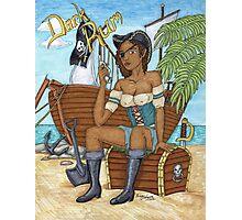 Dark Rum Pirate vers 2 Photographic Print