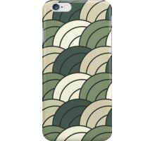 Tileable concentric overlapping circles pattern iPhone Case/Skin