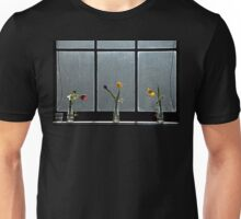 Flowers on a window ledge. Unisex T-Shirt