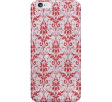 Red and White Damask Pattern iPhone Case/Skin