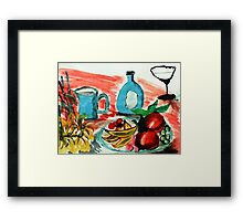 Ready to enjoy, watercolor Framed Print