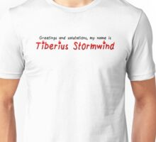 Critical Role - Tiberius Stormwind Quote Unisex T-Shirt