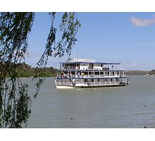 Old River Boat used for tourism on the River Murray, Sth Australia. Photographic Print