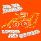 Dig, Dig, Digging tractor construction graphic by Sarah Trett