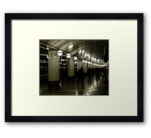 Commuters Framed Print