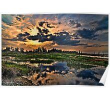 Sunset at Circle B Bar Reserve in HDR Poster