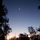 venus,moon n mareeba sunset. by MardiGCalero