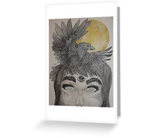 Moons and Ravens Greeting Card