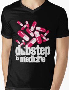 Dubstep is Medicine (dark)  Mens V-Neck T-Shirt