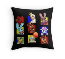 Five Nights at Freddy's Gang Throw Pillow