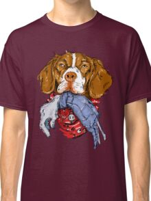 Dogs VS. Zombies II (Brittany Spaniele) Classic T-Shirt