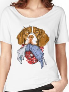 Dogs VS. Zombies II (Brittany Spaniele) Women's Relaxed Fit T-Shirt