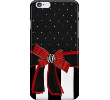 Black White & Red Ribbon Bow Rhinestones Iphone or Ipod case iPhone Case/Skin