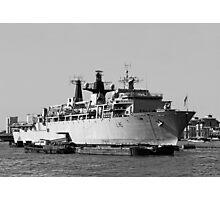 Warship HMS Bulwark B&W Photographic Print