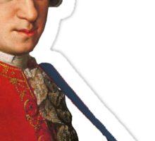Mozart with a keytar Sticker