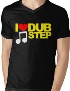 I LOVE DUBSTEP (YELLOW)  Mens V-Neck T-Shirt