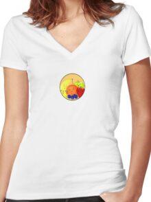 Fruit Family Portrait Women's Fitted V-Neck T-Shirt