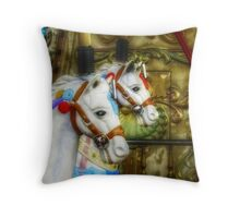 Carousel Horses in Kissimmee, FL Throw Pillow