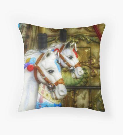 Carousel Horses in Kissimmee, FL Throw Pillow