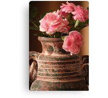 Carnation Pottery Canvas Print