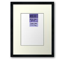 Weeds and Flowers ~ A.A Milne Framed Print