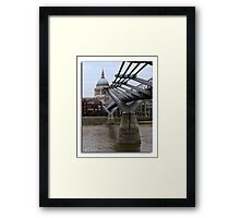 Millenium Bridge from the South Bank of the Thames Framed Print