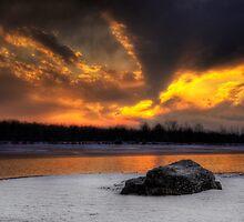 Winter Sunset by Yelena Rozov