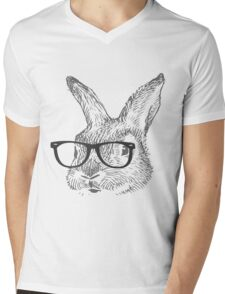 my cool rabbit illustration shirt by Kanjiz Mens V-Neck T-Shirt
