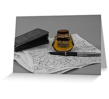 Ink Nostalgia Greeting Card