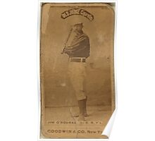 Benjamin K Edwards Collection Jim O'Rourke New York Giants baseball card portrait 004 Poster