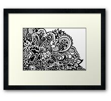 Mental Avalanche.  Framed Print