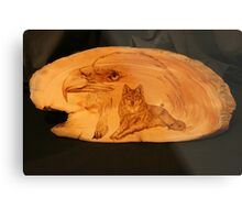 PYROGRAPHY: The Eagle & The Wolf Metal Print